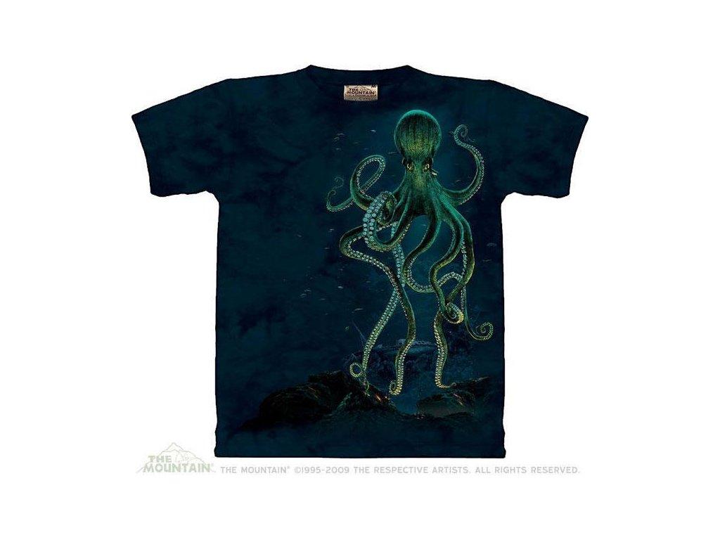 Tričko Zelená chobotnice - Octopus - Dětské