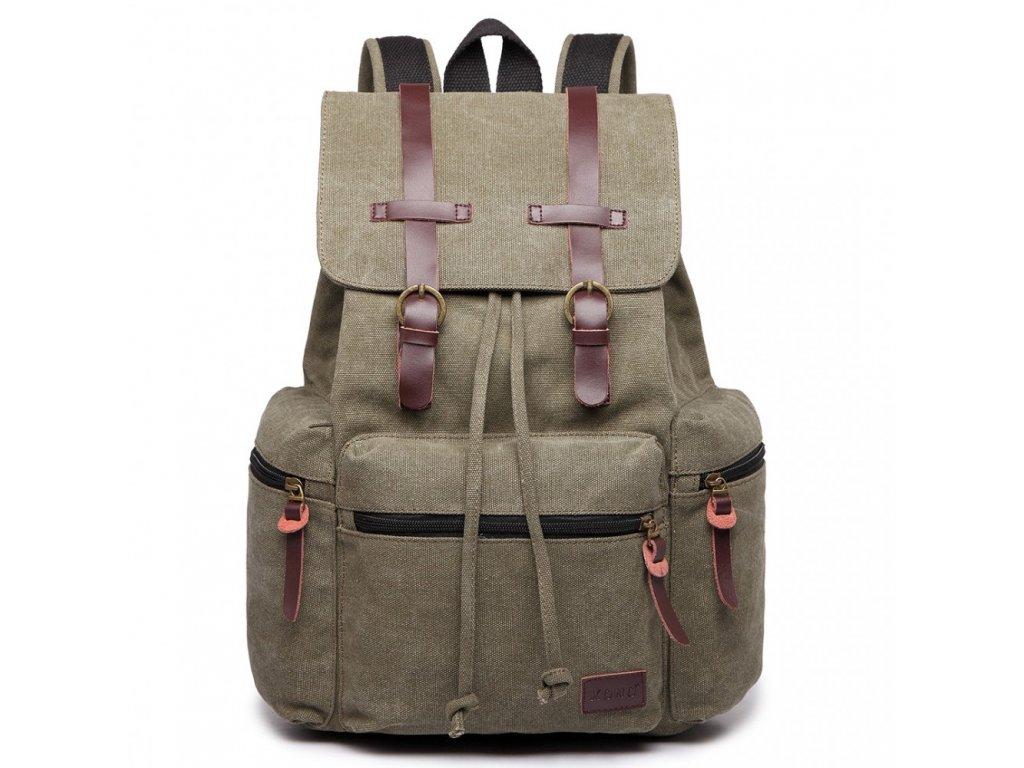 Velký outdoorový multifunkční pánský batoh Kono - Zelený