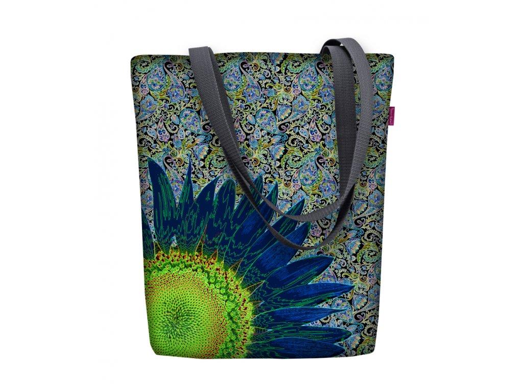 Dizajnová taška na rameno Sunny - Blue Flower