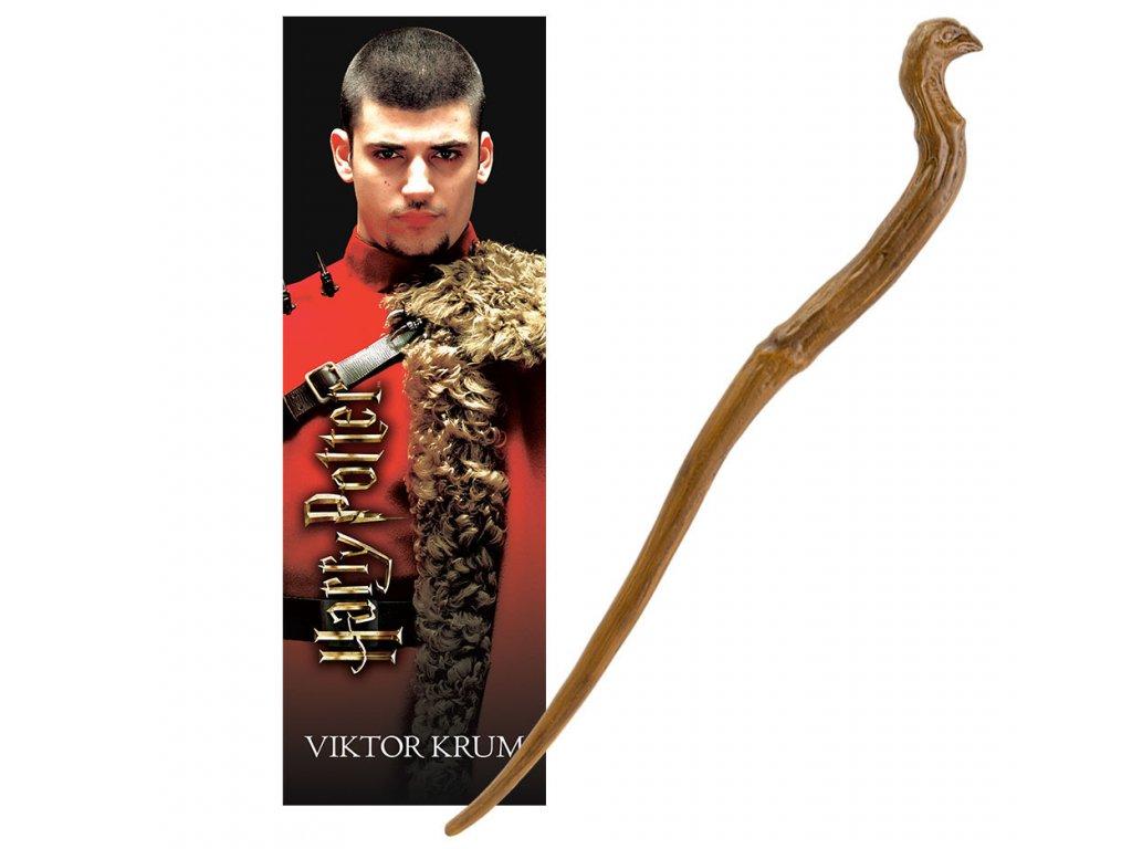 Originální hůlka Viktor Krum 30 cm + 3D Záložka