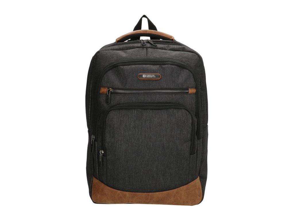 Pánský laptop batoh Enrico Benetti Dublin 15,6 inch (38 cm) - tmavě šedý