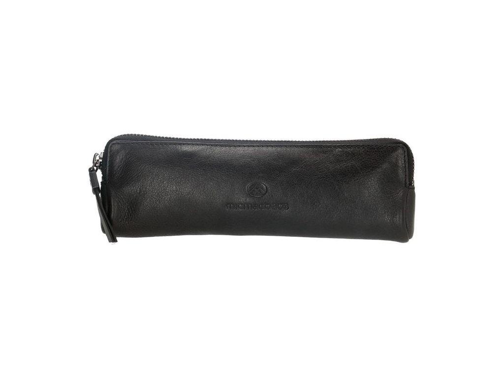 Kožený dámský penál / kosmetička Micmacbags - černá
