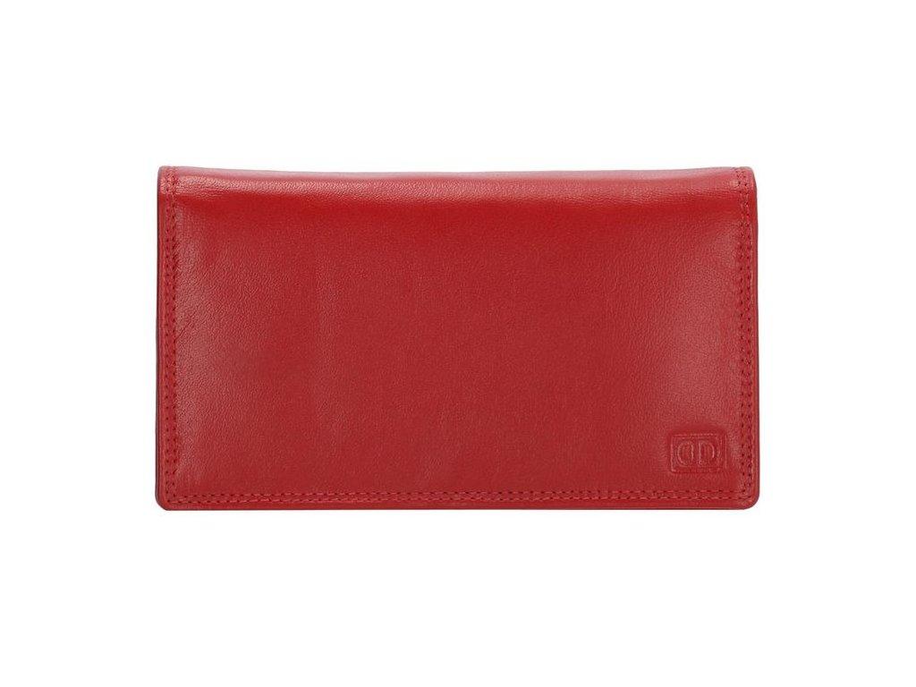 Kožená dámská peněženka Double-d - červená