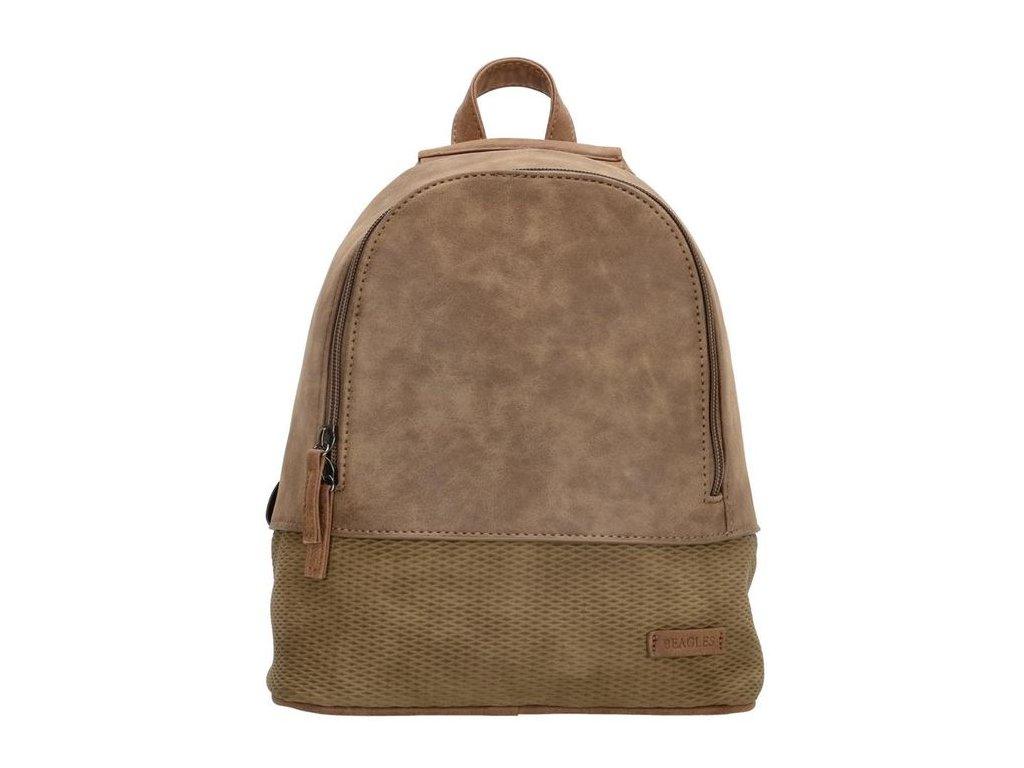 Dámský elegantní batoh Beagles Brunete - hnědý