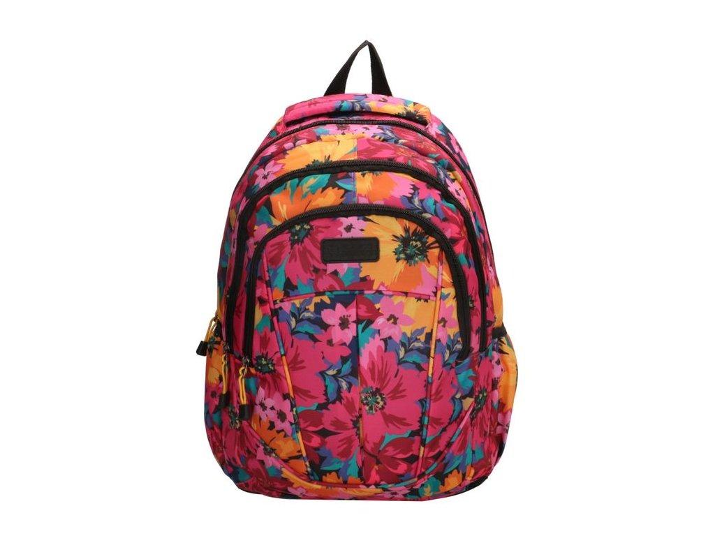 Dívčí školní batoh Enrico Benetti 15,6 inch (38 cm) Floral colection - fuchsia