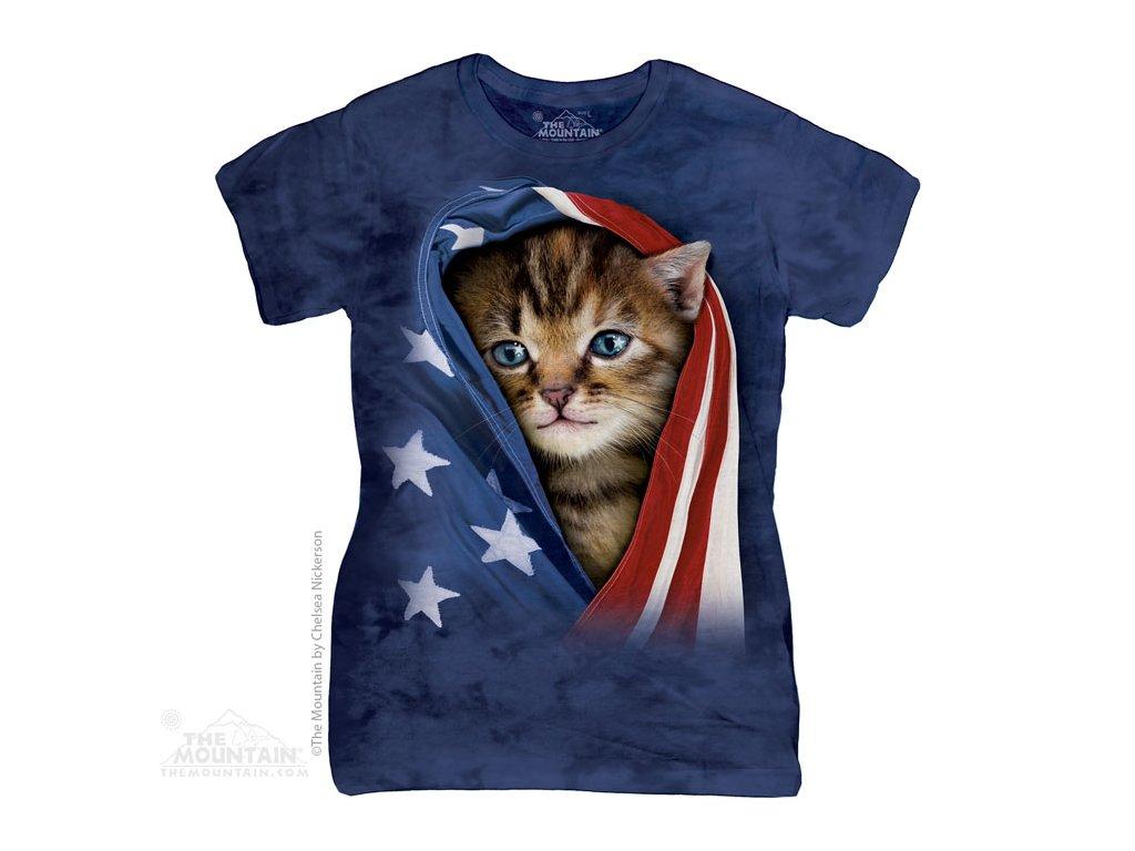 Dámské Tričko Patriotikcá Kočička