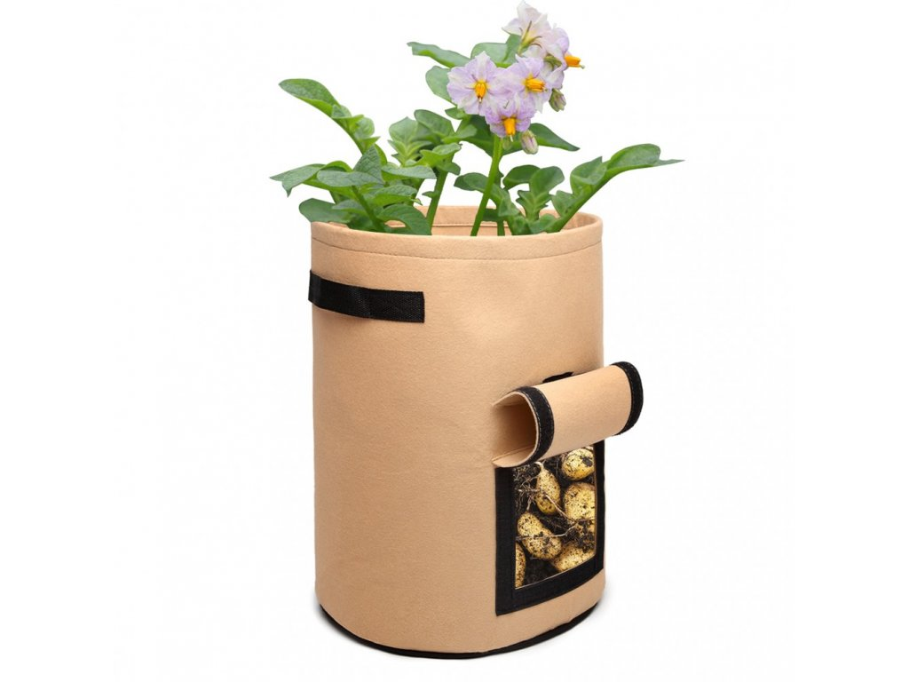 Kono 38L filcová nádoba na pěstování zeleniny - béžová