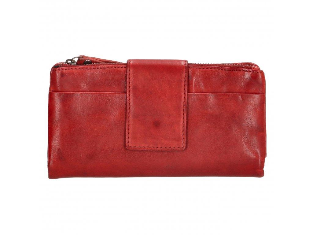 Kožená peněženka Amstel Genicci Rivers - červená