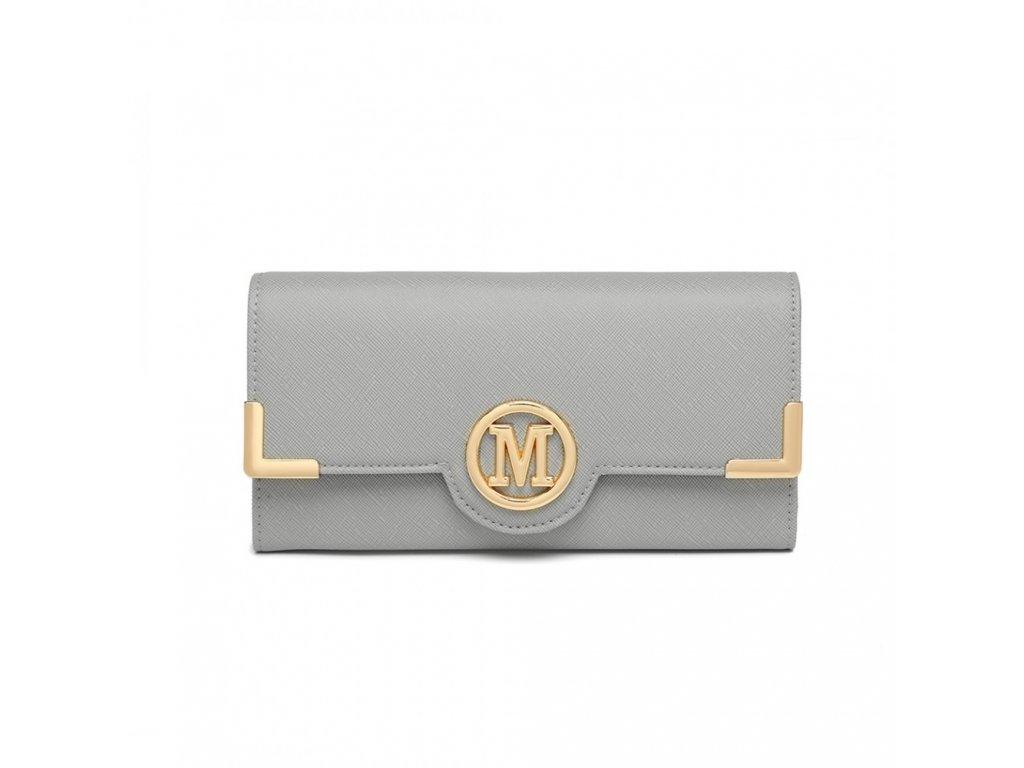 Dámská elegantní peněženka Miss Lulu Venice - šedá