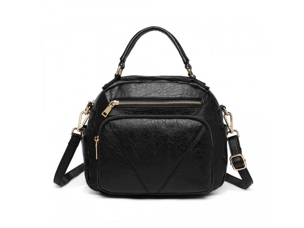 Elegantní dámská kabelka v bowling stylu Rockstar - černá