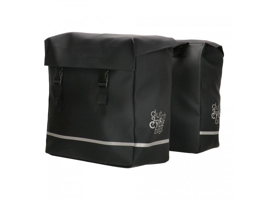 Praktické tašky na kolo Dutch cycle bags urban double - čierna