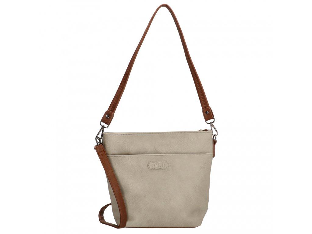 Elegantní dámská crossbody kabelka Beagles Xornes - šedá
