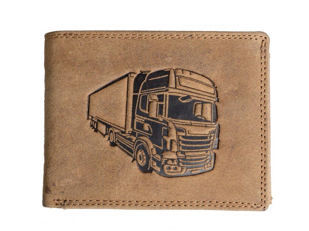 Kožená peněženka Wild s kamionem