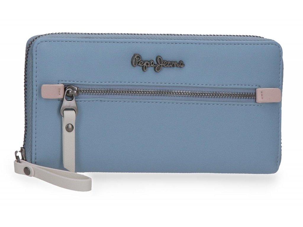 Dámská elegantní peněženka Pepe Jeans Zaida - modrá