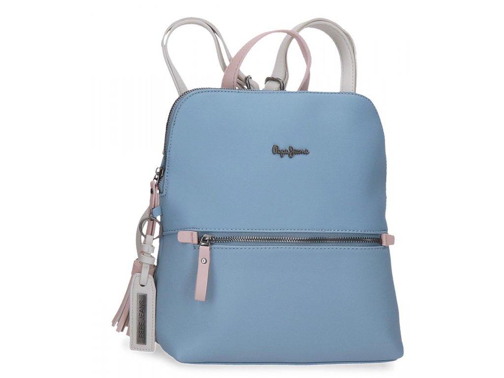 Dámský elegantní batoh Pepe Jeans Zaida hranatý - modrý