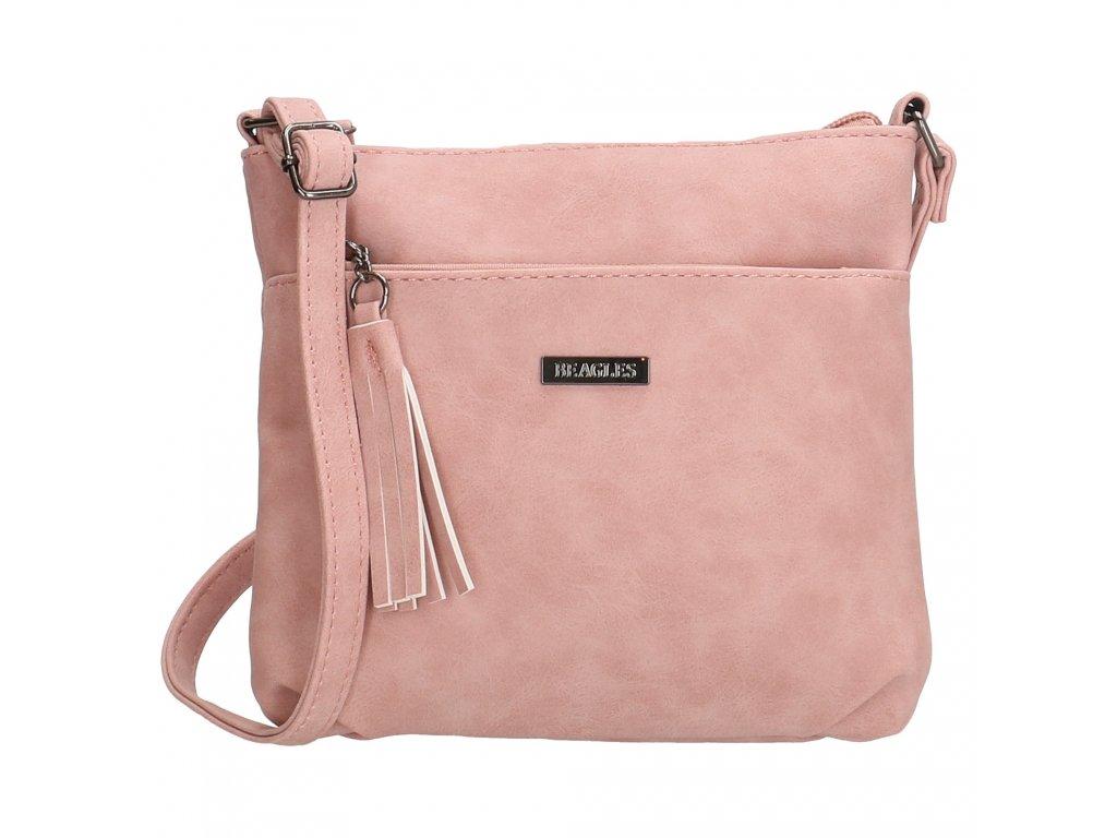 Dámská menší crossbody taška Beagles La Costera - růžová