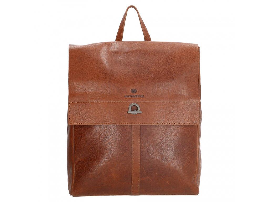 Dámský laptop batoh z pravé kůže Micmacbags Golden Gate - hnědý