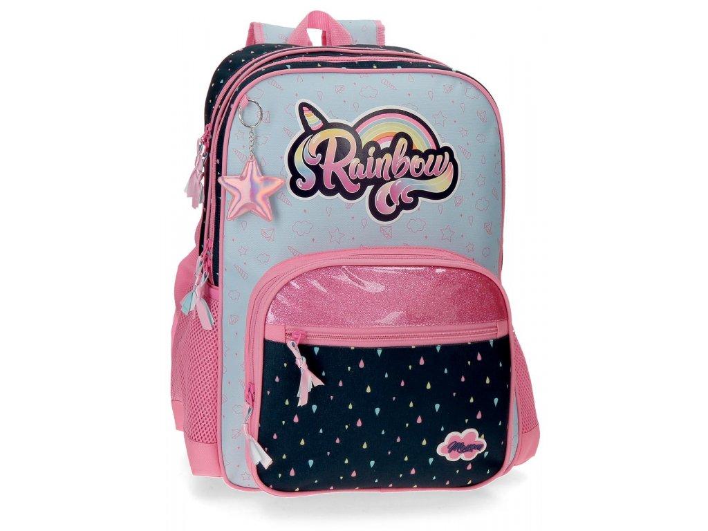 Školní dvoukomorový batoh Movom Rainbow 24,5L