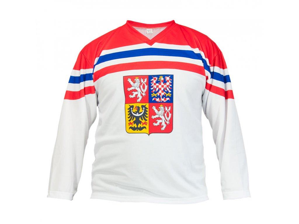 Hokejový Dres Česká republika Bílý