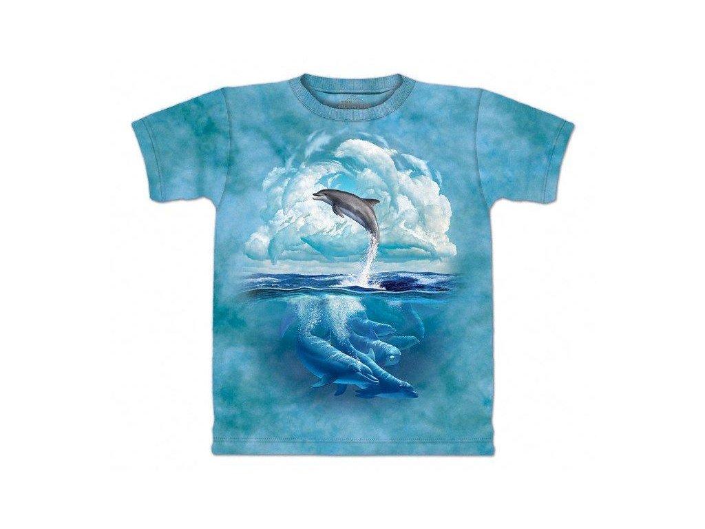 Tričko Delfíni nebe - Dětské - 2017
