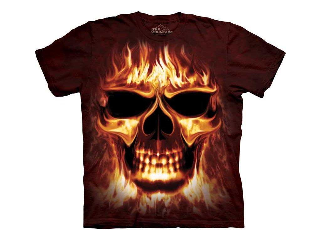 Tričko Skull Fire - Ohnivá lebka