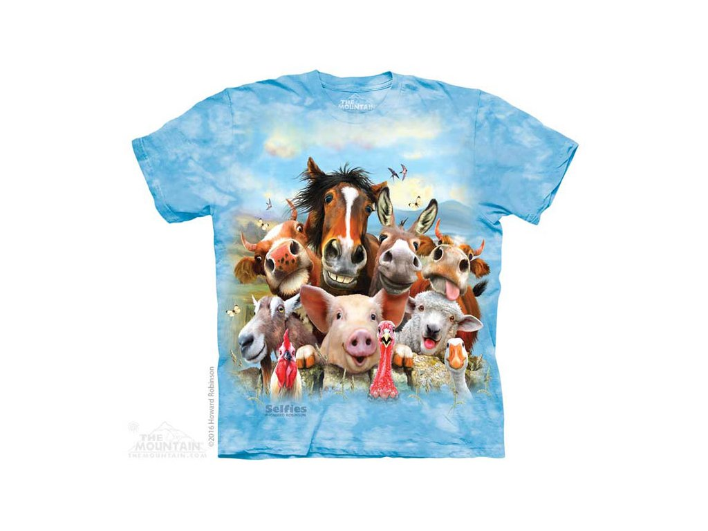 Dětské Tričko Zvířecí Selfie - Zvířata z Farmy - 2017