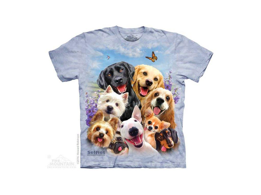 Dětské Tričko Zvířecí Selfie - Psi a pesani