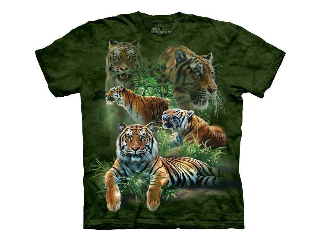 Tričko Koláž tygra