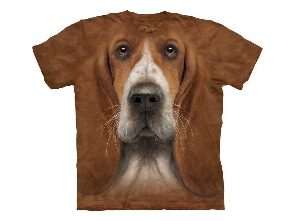 Tričko Baset Psí Tvář