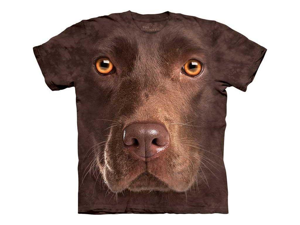 Tričko Čokoládový Labrador Psí Tvář