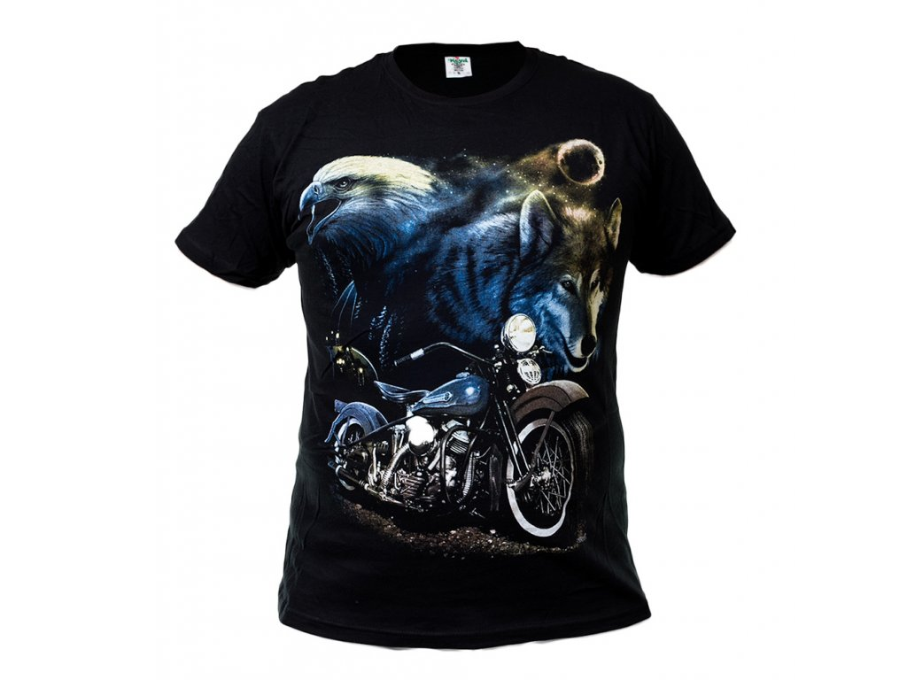 Tričko Orel Modrá Motorka a Vlk