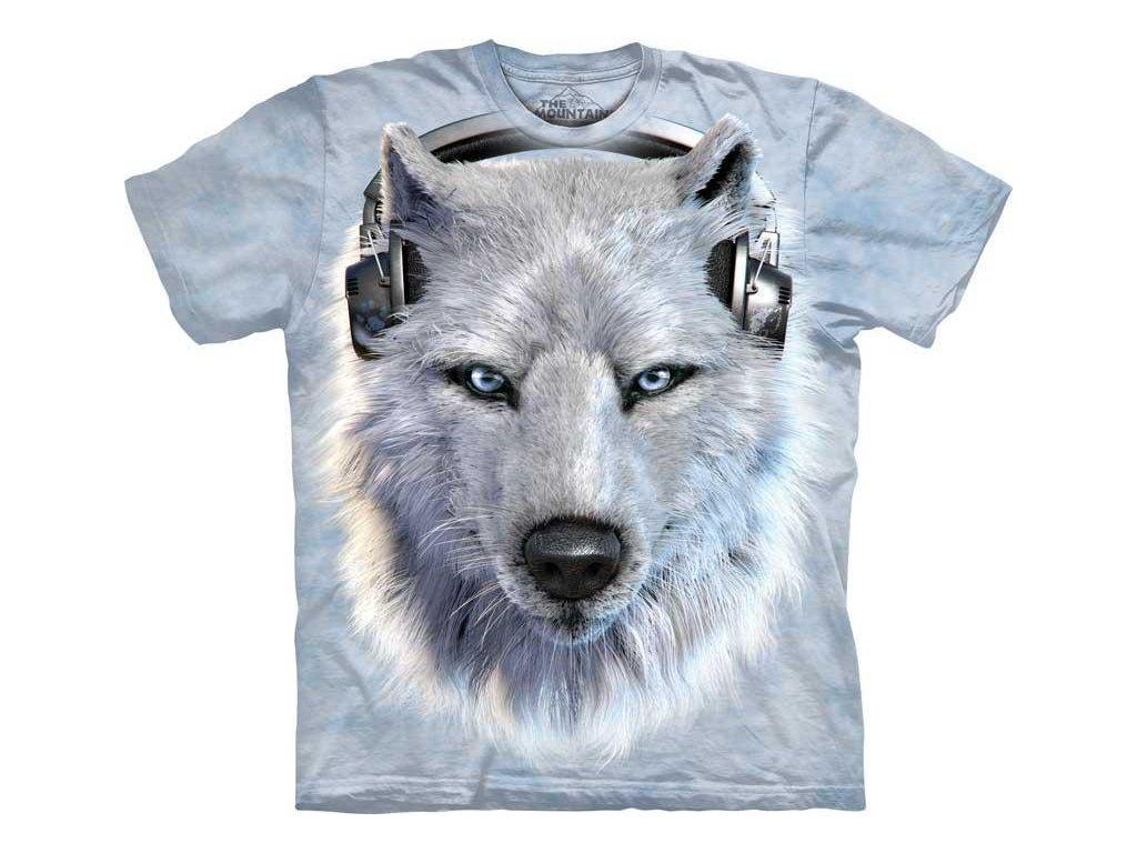 Tričko Tvář Bílého Vlka DJ