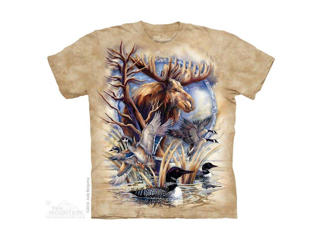 Tričko Los a divoká zvěř u rybníka
