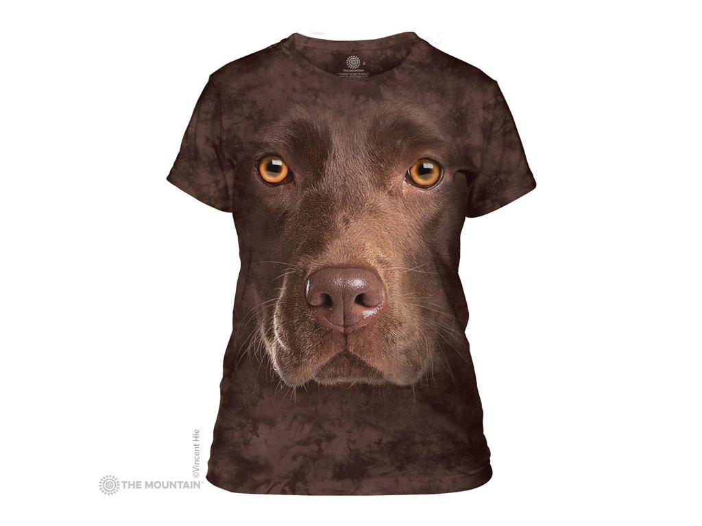 Tričko Čokoládový Labrador Dámské