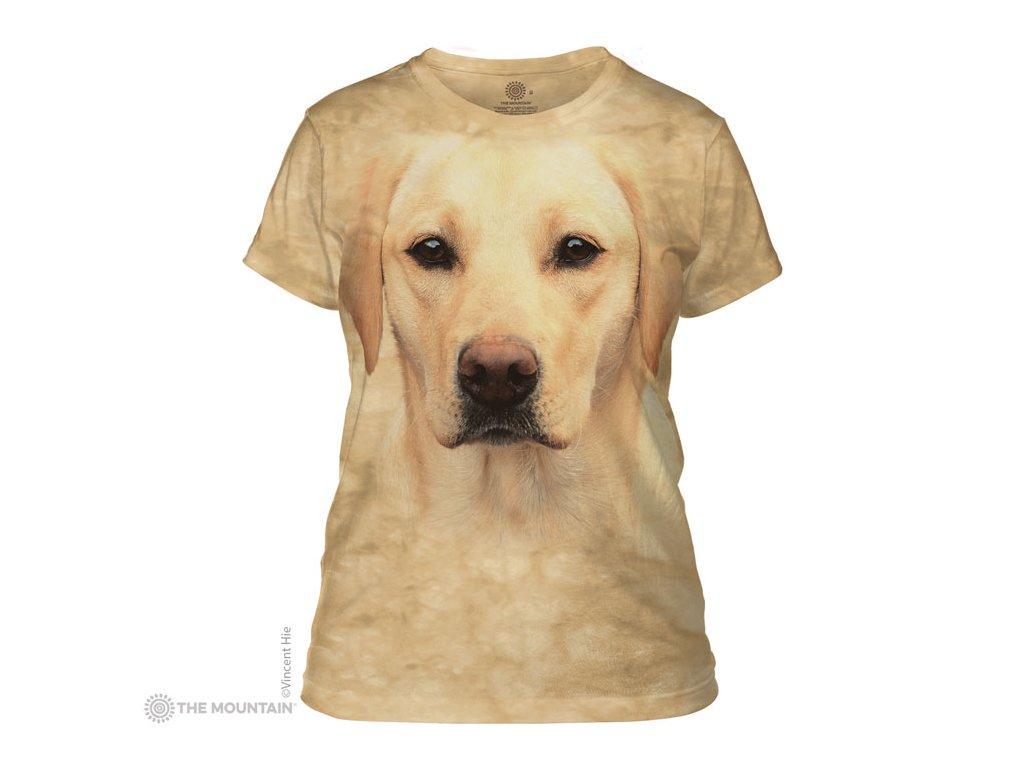 Tričko Žlutý Labrador Dámské