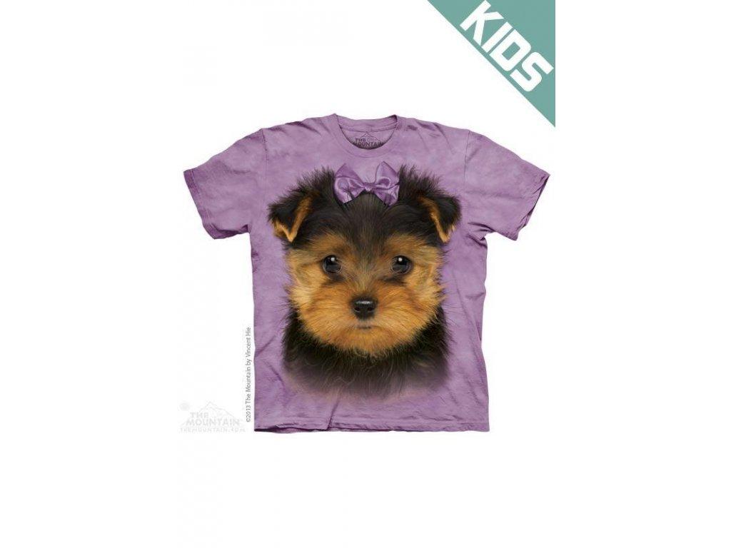 Tričko s potiskem štěnátka jorkšírského teriéra - Dětské