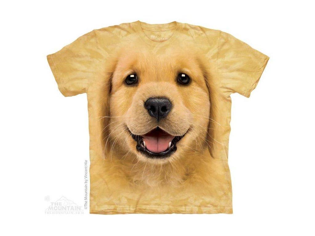 Tričko s potiskem štěnátka zlatého retrívra