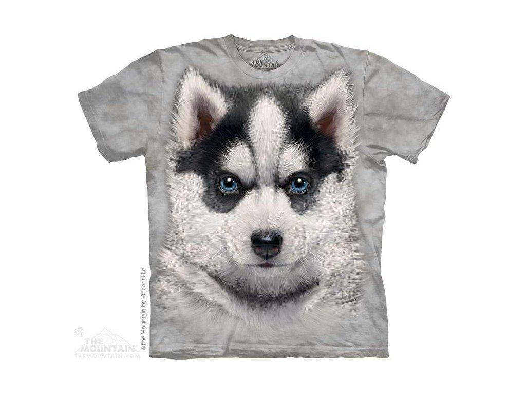 Tričko s potiskem štěnátka sibiřský Husky