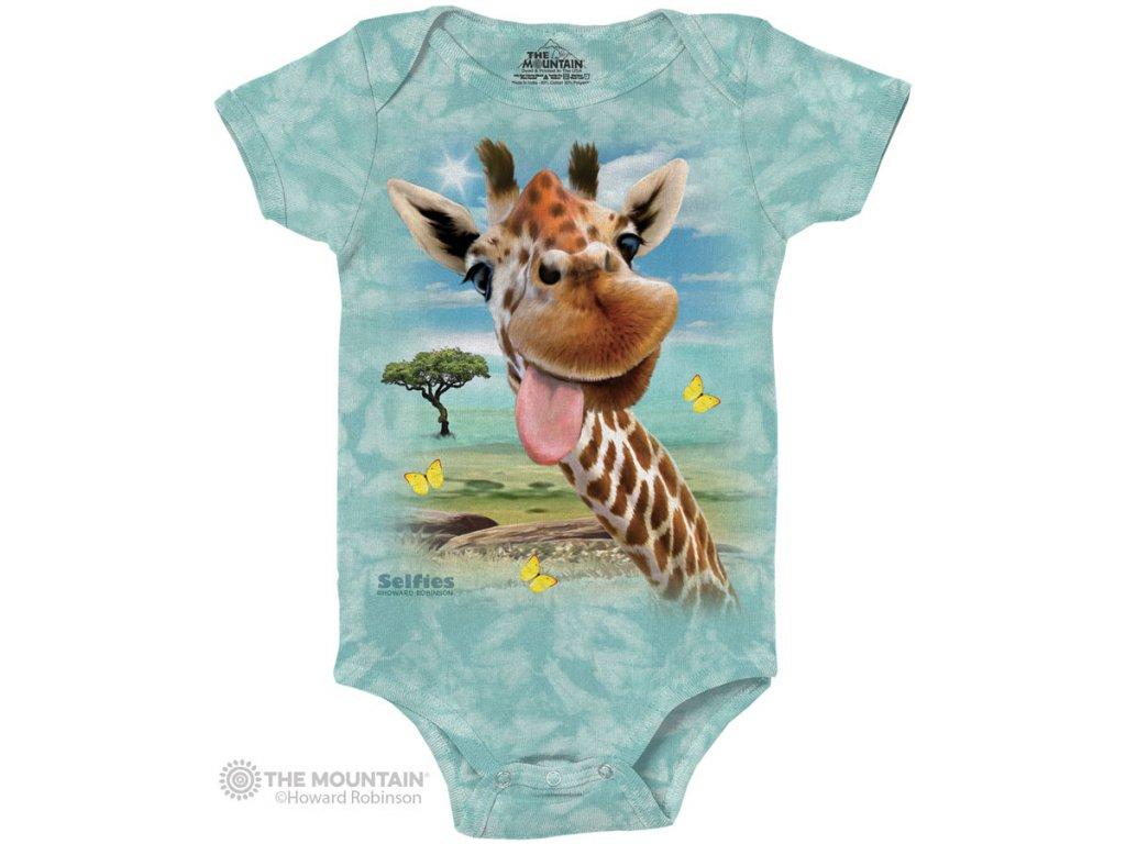 Dětské body Žirafa Selfie