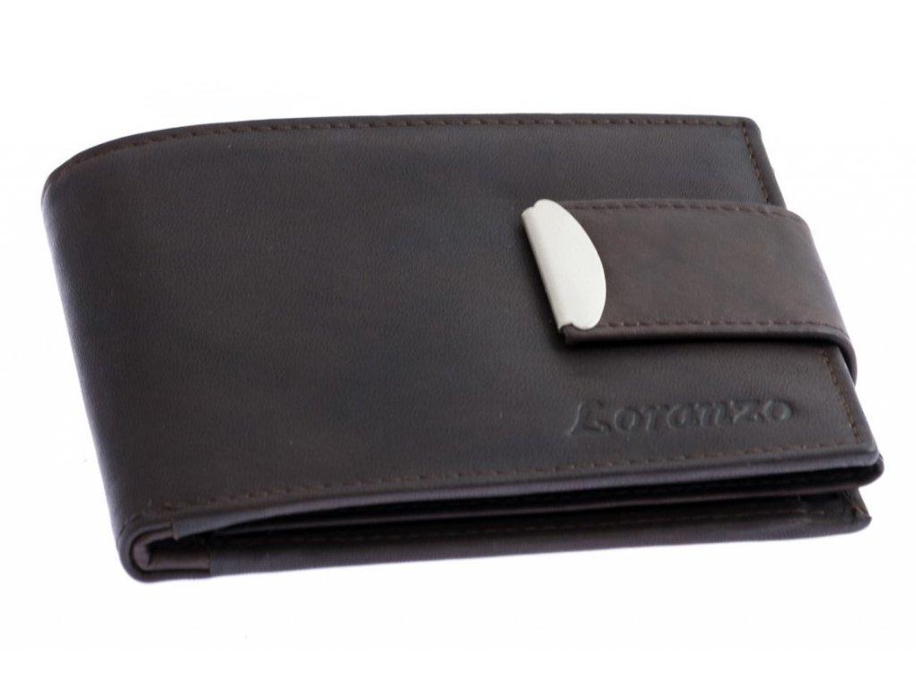 Pánská peněženka s přezkou - hnědá