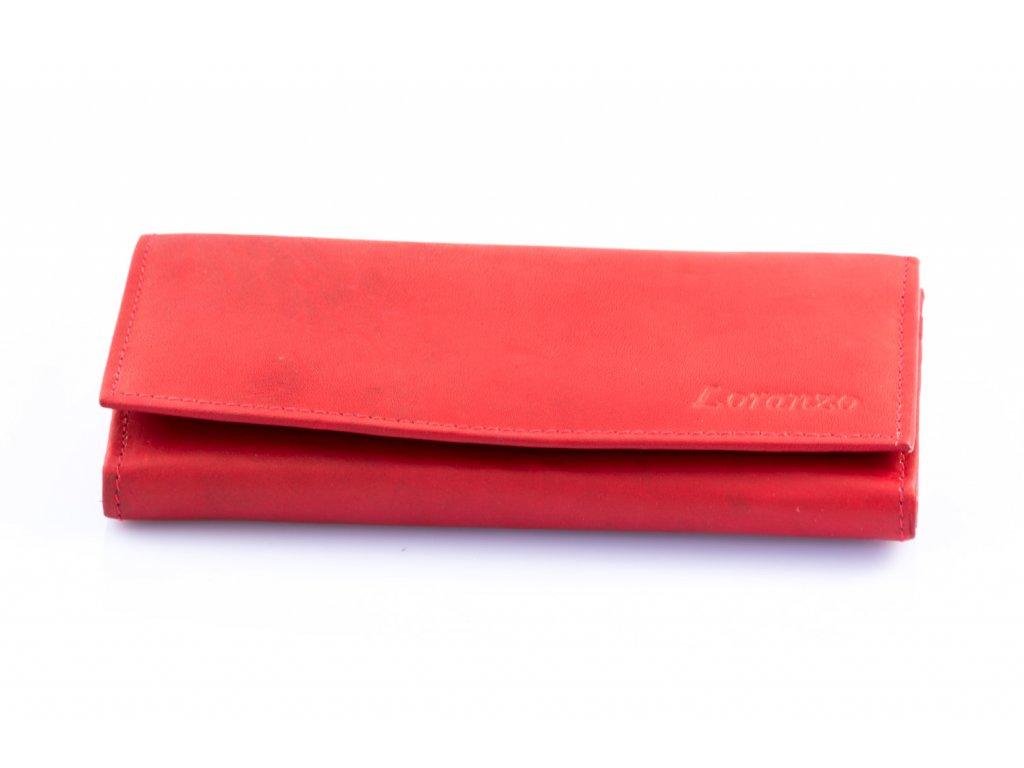 Dámská kožená peněženka - červená