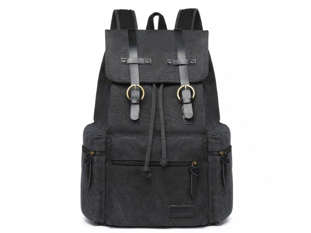 Velký outdoorový multifunkční pánský batoh Kono - černý