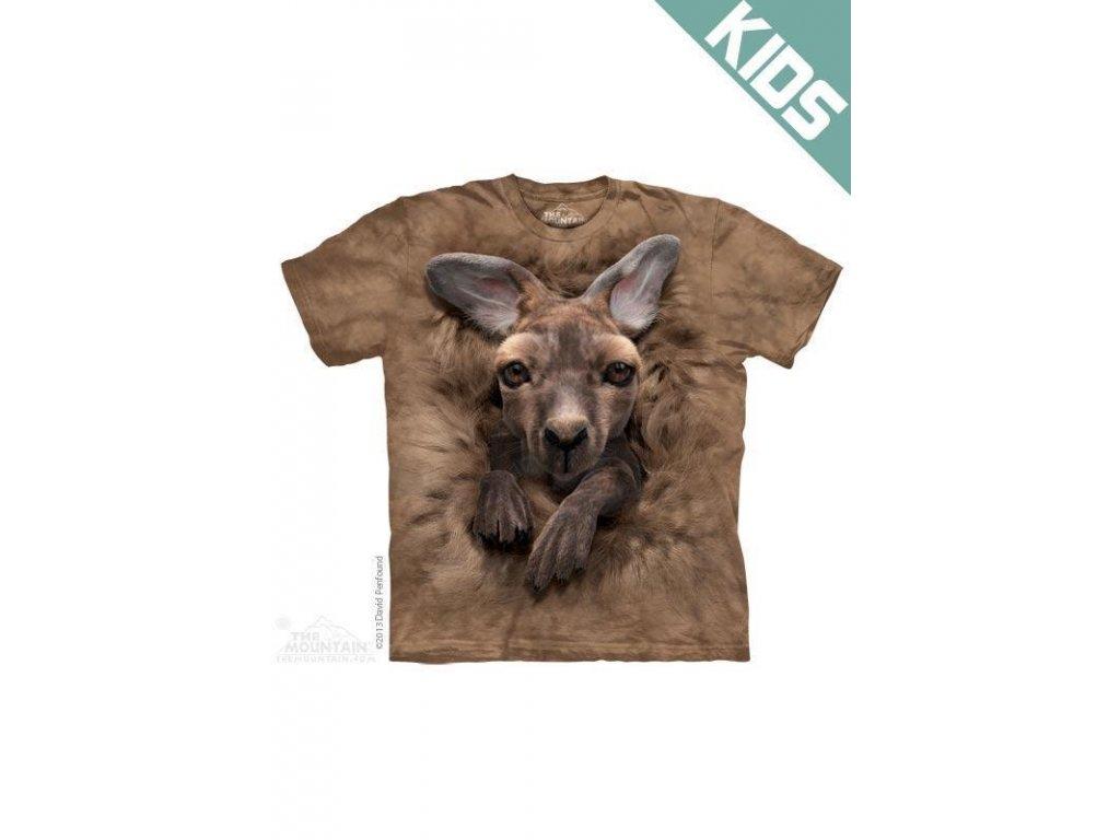 Tričko s potiskem mládě klokana - Dětské - 2017