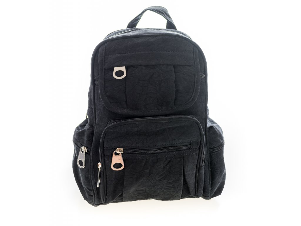 Unisexový černý textilný batoh
