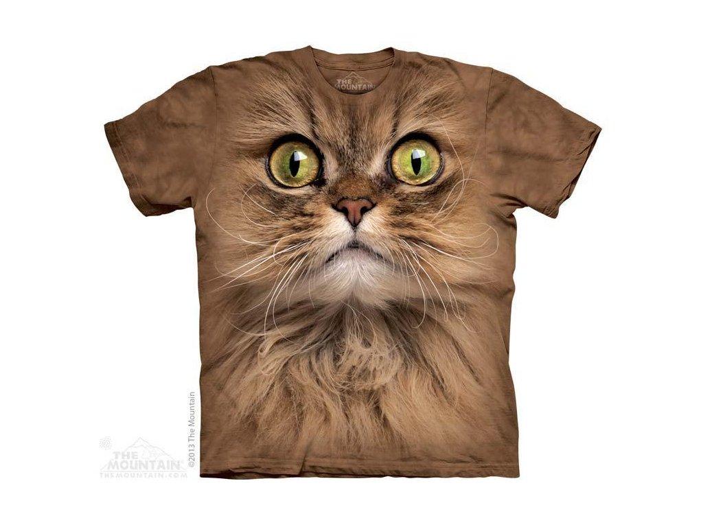Tričko s potiskem hnědá kočka