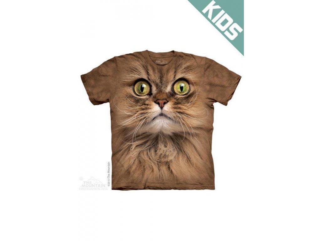 Tričko s potiskem hnědá kočka - Dětské - 2017