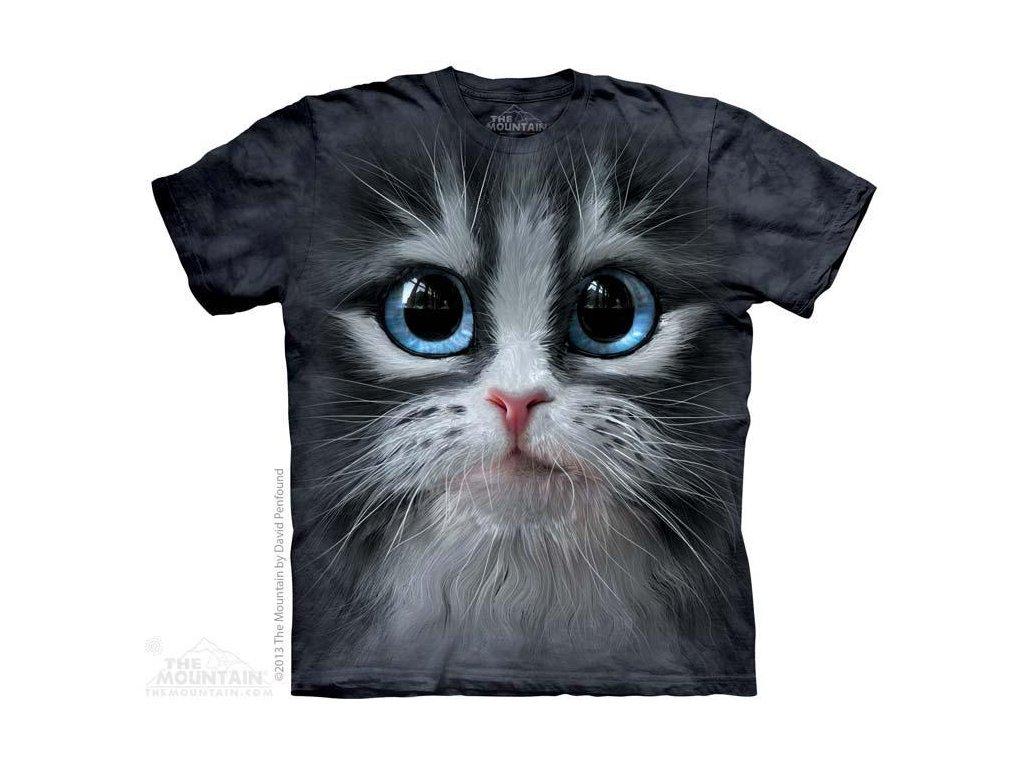 Tričko s potiskem hlavě kotě