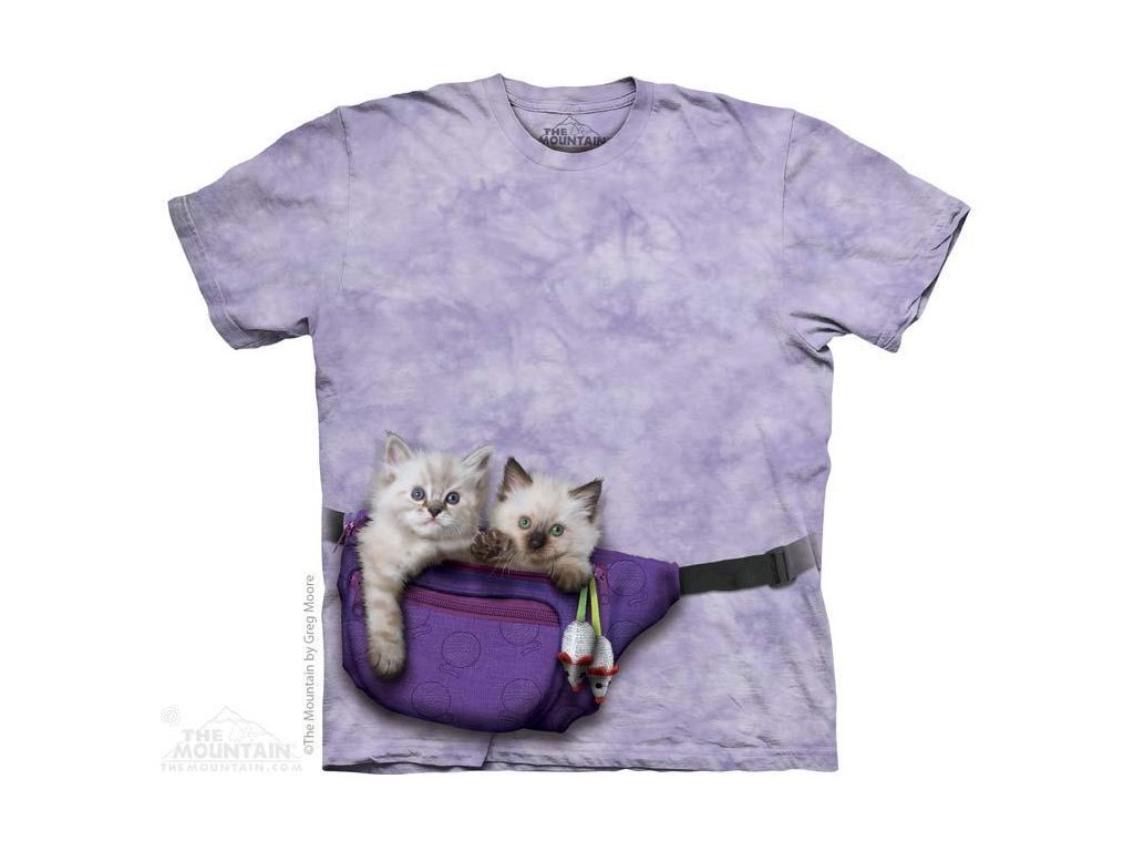 Tričko s potiskem koťata v ledvince