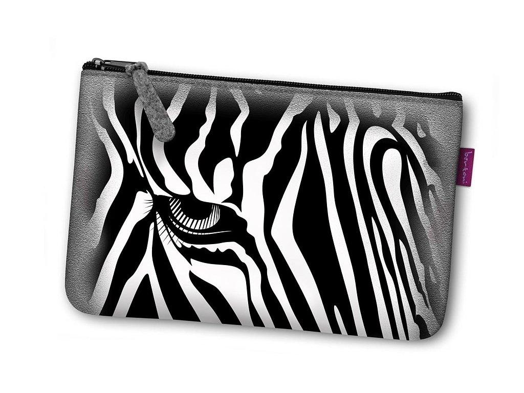 Kosmetická eko taška Zebra