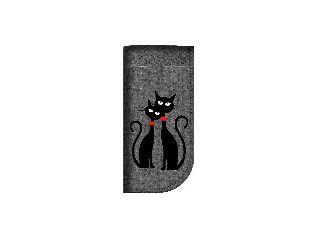 Obal na brýle - Dvě kočky